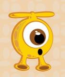 Personaggio dei cartoni animati straniero della creatura Immagini Stock