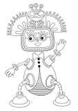 Personaggio del mostro di fantasia Immagine Stock