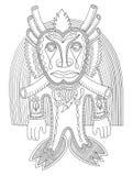 Personaggio moderno originale del mostro di fantasia di scarabocchio Fotografia Stock Libera da Diritti