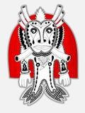 Personaggio originale del mostro di fantasia di scarabocchio Immagine Stock
