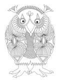 Personaje animal de la fantasía, búho libre illustration