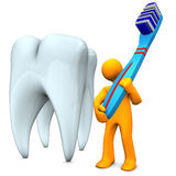 Cepillo de dientes Imágenes de archivo libres de regalías