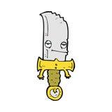 personaje de dibujos animados cómico del cuchillo Imágenes de archivo libres de regalías