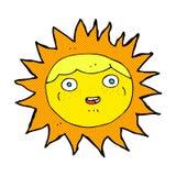 personaje de dibujos animados cómico del sol Foto de archivo libre de regalías