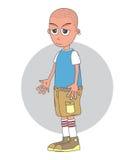 Personaje de dibujos animados calvo del hombre Foto de archivo