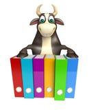 Personaje de dibujos animados de Bull con los ficheros Libre Illustration