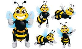 Personaje de dibujos animados de la abeja Fotos de archivo libres de regalías