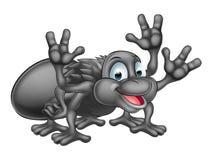 Personaje de dibujos animados de la araña Imagenes de archivo