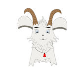 Personaje de dibujos animados de la cabra Imagenes de archivo