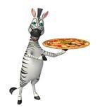 Personaje de dibujos animados de la cebra Fotografía de archivo libre de regalías