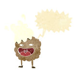 personaje de dibujos animados de la galleta con la burbuja del discurso Imagen de archivo libre de regalías
