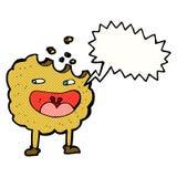 personaje de dibujos animados de la galleta con la burbuja del discurso Foto de archivo libre de regalías