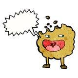 personaje de dibujos animados de la galleta con la burbuja del discurso Imagen de archivo
