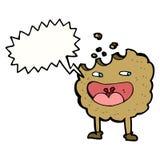personaje de dibujos animados de la galleta con la burbuja del discurso Foto de archivo