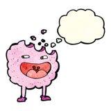 personaje de dibujos animados de la galleta con la burbuja del pensamiento Fotografía de archivo