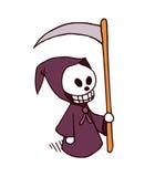 Personaje de dibujos animados de la muerte Fotografía de archivo