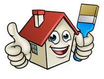 Personaje de dibujos animados de la pintura de casa Imagenes de archivo