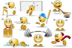 Personaje de dibujos animados de la sonrisa del deporte Imagen de archivo libre de regalías