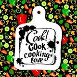 Personaje de dibujos animados de Serving Food Realistic del cocinero del cocinero Imagen de archivo