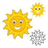 Personaje de dibujos animados de Sun ilustración del vector