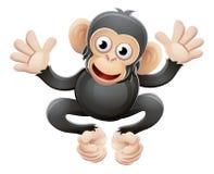 Personaje de dibujos animados del animal del chimpancé Fotos de archivo libres de regalías