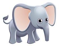 Personaje de dibujos animados del animal del elefante Foto de archivo