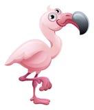 Personaje de dibujos animados del animal del flamenco Imagen de archivo libre de regalías