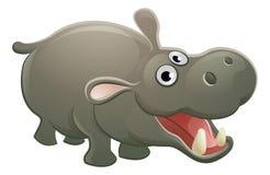 Personaje de dibujos animados del animal del hipopótamo Imágenes de archivo libres de regalías