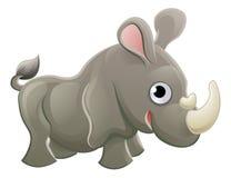 Personaje de dibujos animados del animal del rinoceronte Imagen de archivo