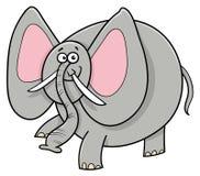 Personaje de dibujos animados del animal del elefante africano Fotografía de archivo