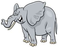 Personaje de dibujos animados del animal del elefante del gris africano Ilustración del Vector