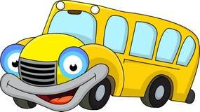 Personaje de dibujos animados del autobús escolar Fotografía de archivo libre de regalías