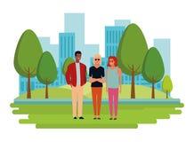Personaje de dibujos animados del avatar del grupo de personas ilustración del vector