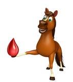 Personaje de dibujos animados del caballo con gota de sangre Imagen de archivo