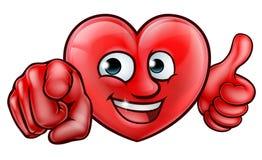 Personaje de dibujos animados del corazón Imagen de archivo libre de regalías
