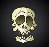 Personaje de dibujos animados del cráneo Imágenes de archivo libres de regalías