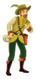 Personaje de dibujos animados del cuento de hadas - ejemplo para los niños Fotografía de archivo