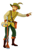 Personaje de dibujos animados del cuento de hadas - ejemplo para los niños Imagen de archivo libre de regalías