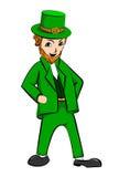 Personaje de dibujos animados del día del St Patricks del duende Fotografía de archivo