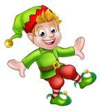 Personaje de dibujos animados del duende de la Navidad Imagen de archivo