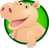 Personaje de dibujos animados del hipopótamo Fotos de archivo