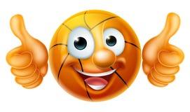 Personaje de dibujos animados del hombre de la bola del baloncesto Imágenes de archivo libres de regalías