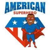 Personaje de dibujos animados del hombre del super héroe Imágenes de archivo libres de regalías