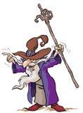 Personaje de dibujos animados del mago Imagenes de archivo