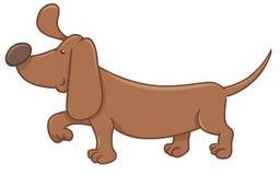 Personaje de dibujos animados del perro basset Foto de archivo