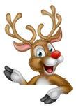 Personaje de dibujos animados del reno de la Navidad Imagenes de archivo