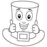 Personaje de dibujos animados del sombrero del ` s de St Patrick del colorante Imagen de archivo libre de regalías
