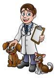 Personaje de dibujos animados del veterinario stock de ilustración