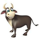 Personaje de dibujos animados divertido de Bull Ilustración del Vector