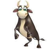 Personaje de dibujos animados divertido de Bull Libre Illustration